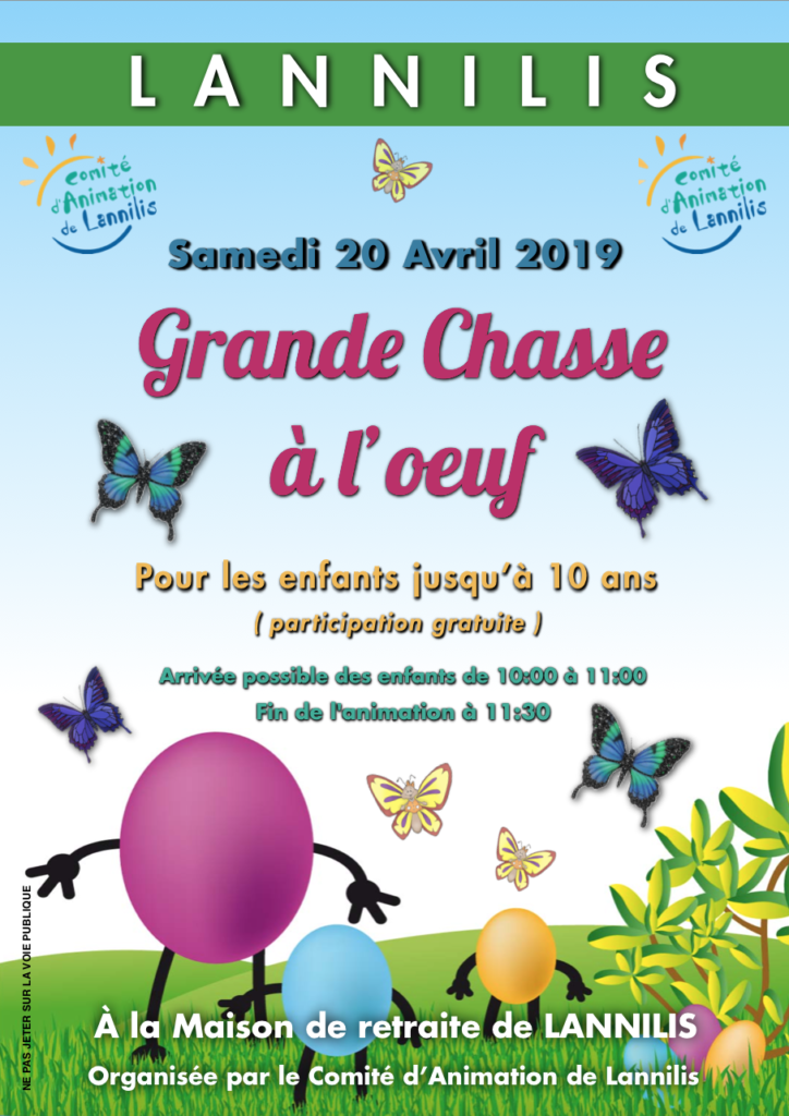 Affiche chasse a l-oeuf 2019